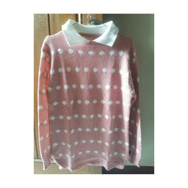Sweater Polkadot Pink