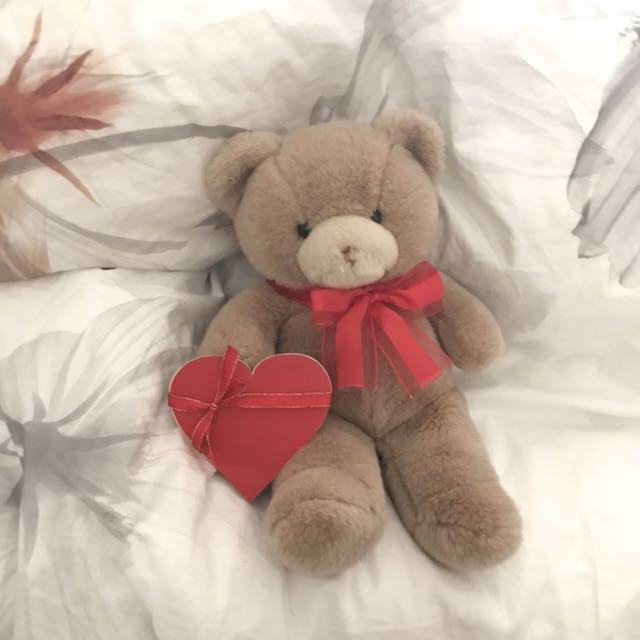 Teddy Bear Valentine's Day Gift + 3D Heart Card