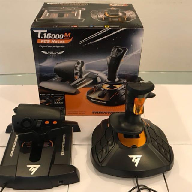 Thrustmaster T16000m Hotas Button Layout