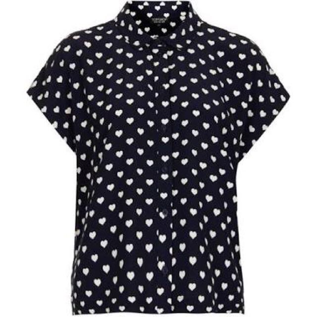 Topshop Boxy Heart Top