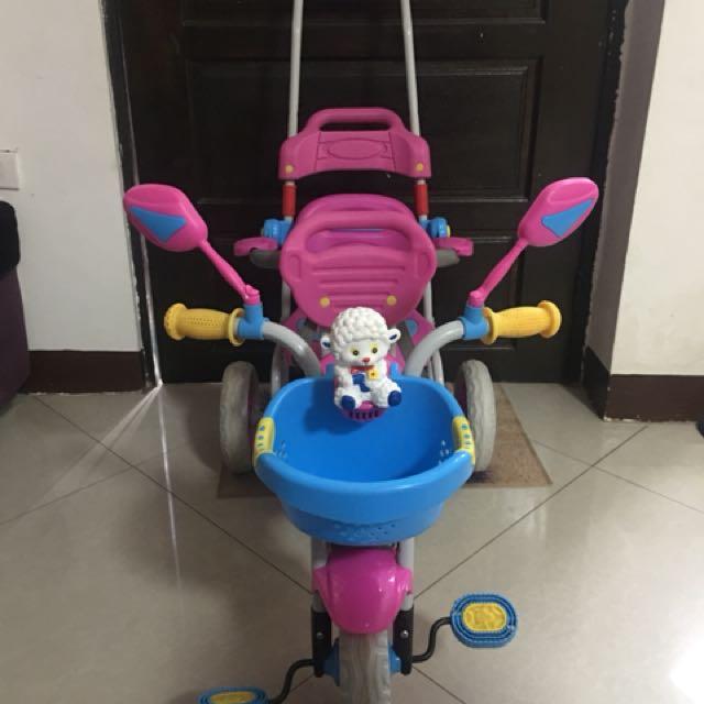 Two seater kids bike