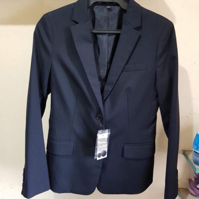 Uniqlo Pin Stripe Blazer Black