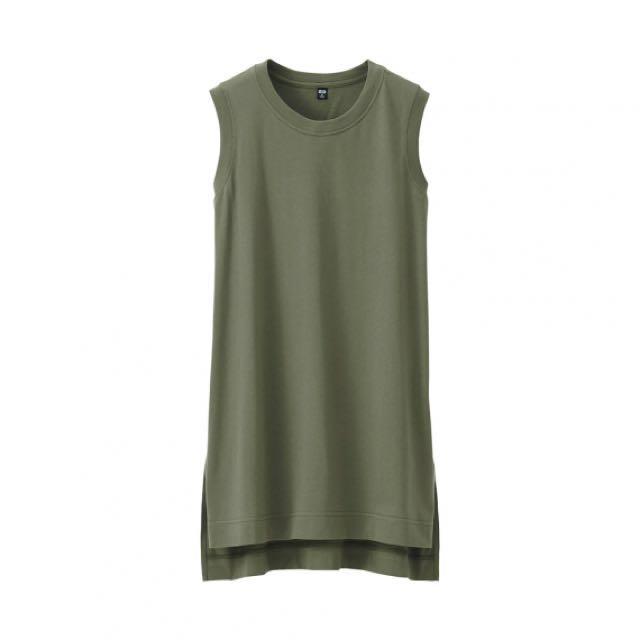 UNIQLO women Sleeveless Top (green)