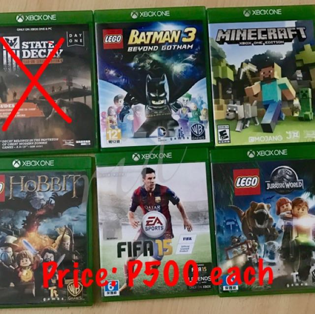 Various XBOX ONE games at 500 EACH