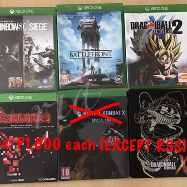 Various XBOX ONE games for 1,000 EACH (EXCEPT for Rainbow Six Siege)