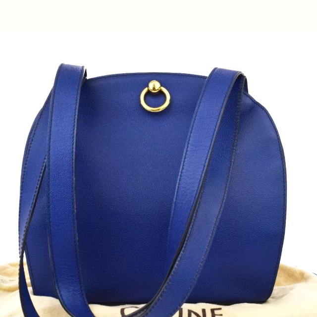 a0460e6bb09f Vintage gorgeous CELINE tote in blue
