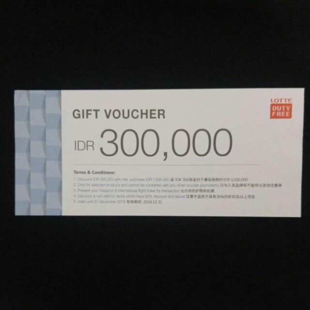 Voucher IDR 300k Lotte Duty Free