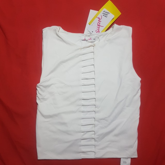 White Ladder Crop Top