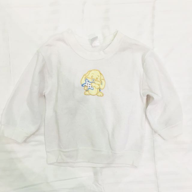 White puppy sweat shirt