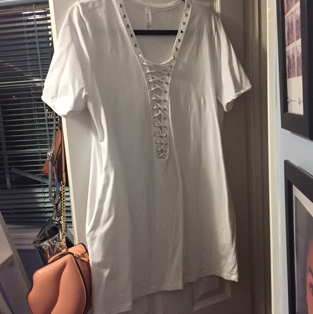 White T-shirt dress from M
