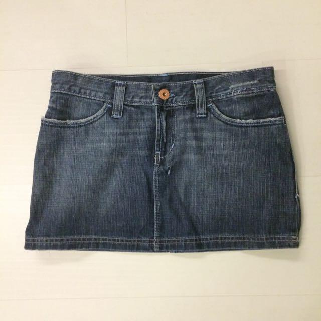 ZARA 牛仔短裙 TRF系列 單寧控 刷白仿舊 迷你裙