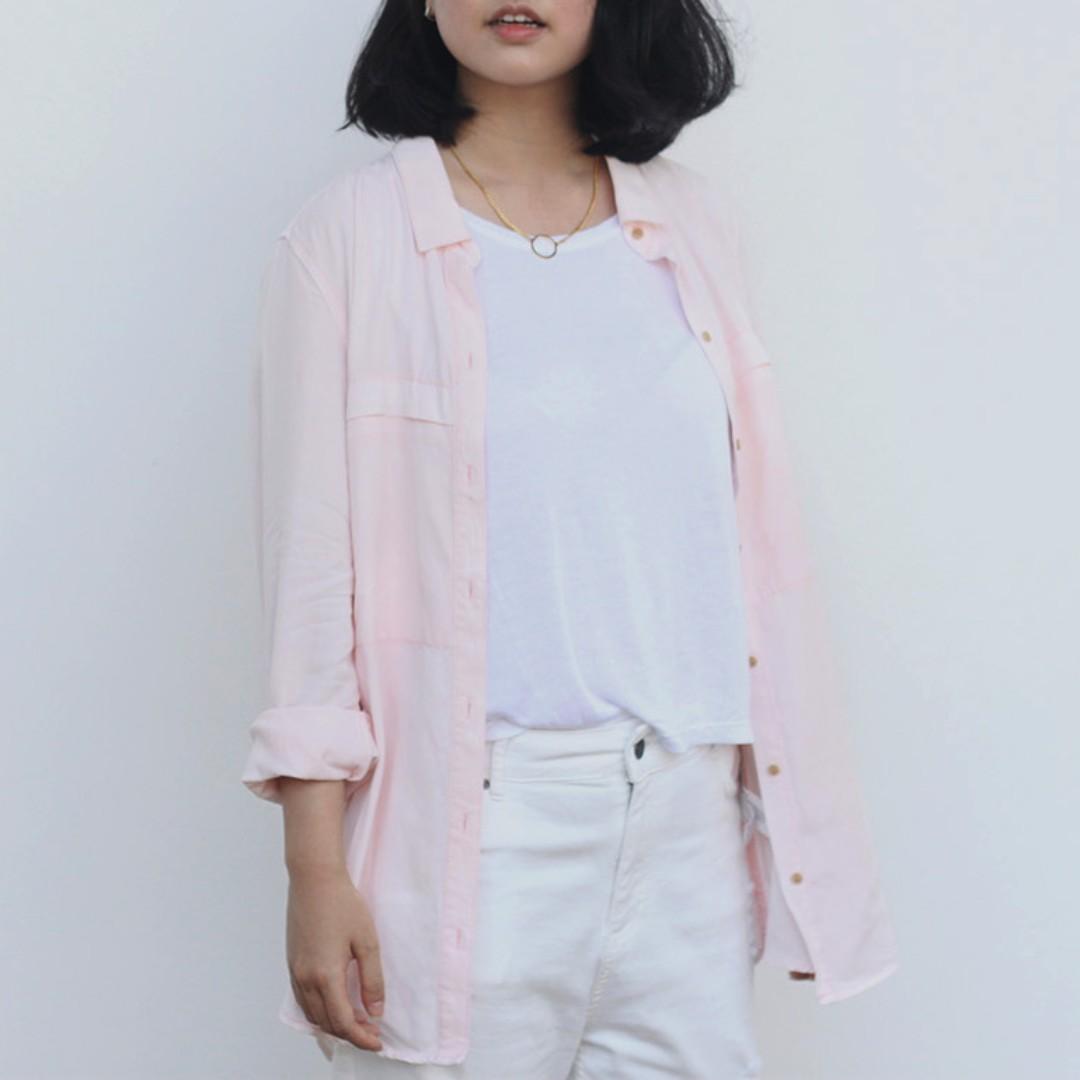 ZARA TRF Pink Shirt M