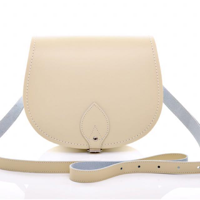 Zatchels英國劍橋包品牌saddle bag米白馬鞍包