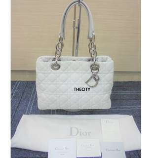 AUTHENTIC DIOR LAMBSKIN MEDIUM  SHOULDER TOTE BAG - GOOD CONDITION