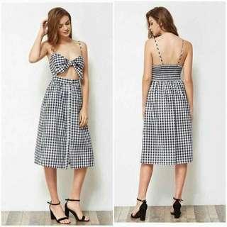 Gingham Fashion Dress