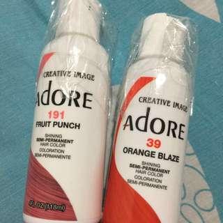 Adore Semi-Permanent Hairdye (Fruit Punch & Orange Blaze)