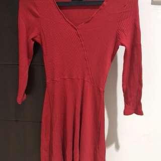 Bershka mini dress in red
