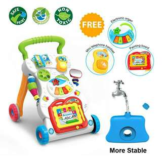 4 in 1 Children Music Walker Baby Learn Walk Stand Trolley Toys Toy Kids