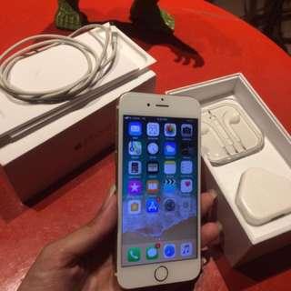 Iphone 6 16gb gold mulus like new