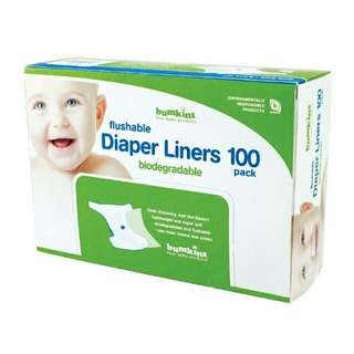 Brand New Bumkins Flushable Diaper Liners 100 Pcs