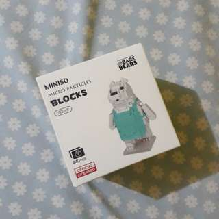 We Bare Bears Nanoblocks (Ice Bear)