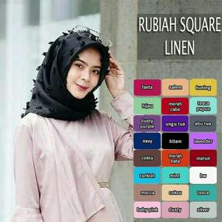 Rubiah square linen