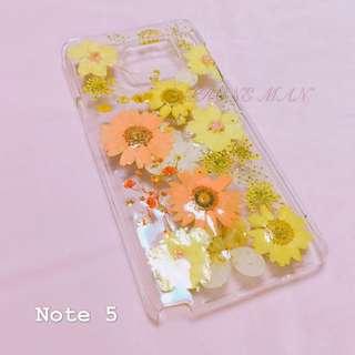 🈹特價 Samsung Note5 乾花殻 押花殻 包平郵