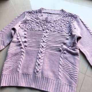 薰衣草紫 針織