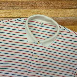 UNIQLO Garis Striped Polo Shirt