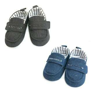 Baby Corp Shoes,Anti Slip Sofsole Denim Loafers Slip Ons