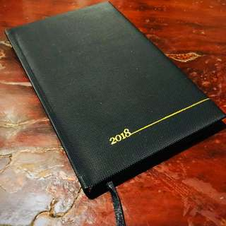 2018 Black and Gold Planner / Journal Stationery