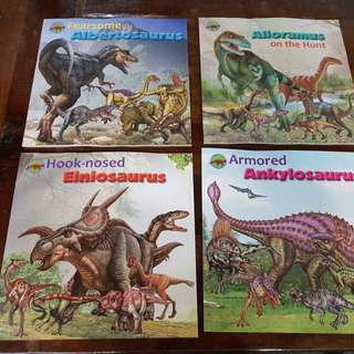 When Dinosaurs Ruled the World books (4books)