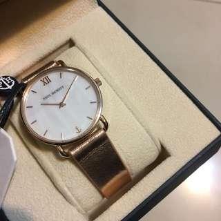 Paul hewitt 玫瑰金皮革手錶