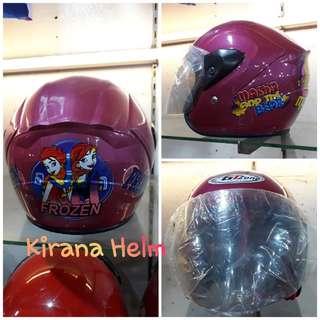 Helm Anak Kop - Warna Pink