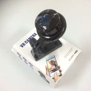 Security camera with 180 degree wide viewing angle