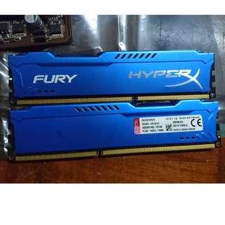 DDR3 8GB Kingston RAM Fury HyperX