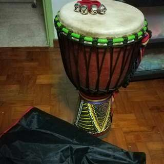 """Djembe 10"""" with sleigh bell strap"""