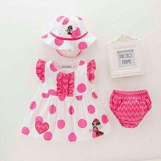 Minie Mouse 3pc Set Dress