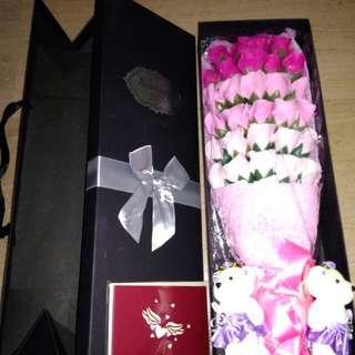 Valentine's Roses Soap Flower