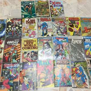 Comics lot to trade DC Ironman X-men Harley Quinn Spider-Man