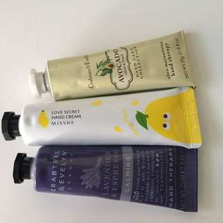 Assorted Hand moisturiser
