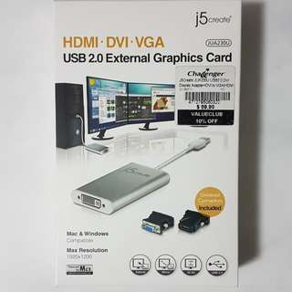 J5 Create USB 2.0 HDMI Display Adapter