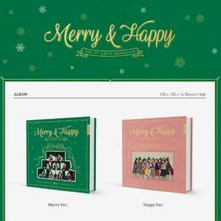 TWICE 1ST ALBUM REPACKAGE - (MERRY&HAPPY)