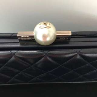 Chanel pearl lambskin Clutch
