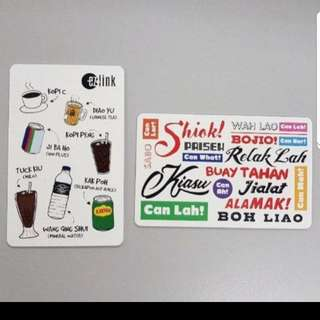 Limited Edition Singlish Ezlink Card Sets