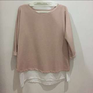 BERSHKA : soft pink sweater