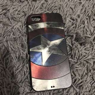 Captain america's shield softcase (for iphone 5/5s)