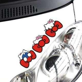 Hello Kitty car sticker (28 x 8.5cm)