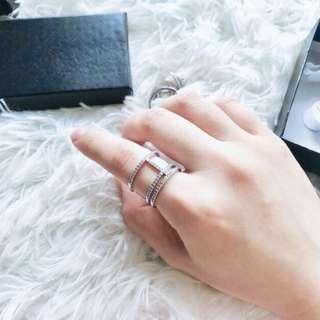 APM monaco簡約隨性搭配鑲鑽戒指(另外有玫瑰金色)