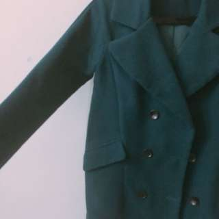 正韓稀有深藍綠大衣